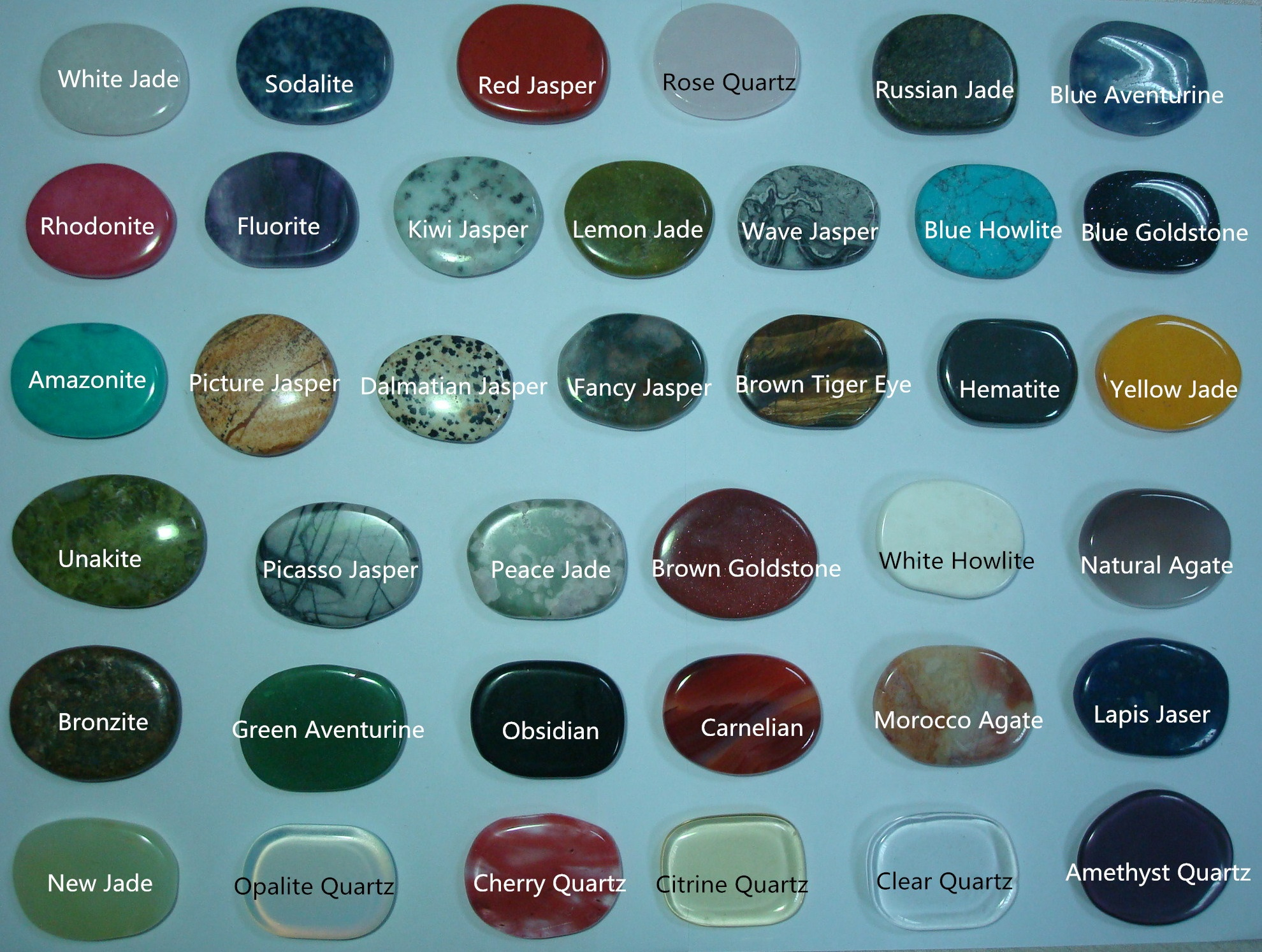 Gemstone information a list of precious and semi precious gemstones - Engraved Gemstones