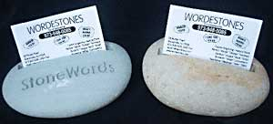 Engraved Stone Business Card Holder