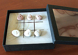 Stone Tic Tac Toe Game Set