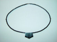 "Necklace, hematite, 18"", 013"