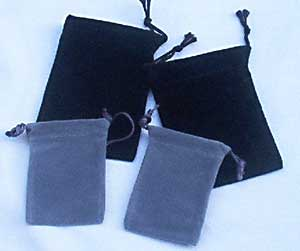 Velour Pouches - 25 per package