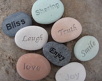 Engraved Stone Wedding Favors and Gifts