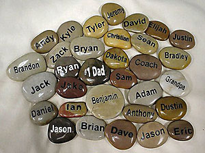 Polished Engraved Riverstones
