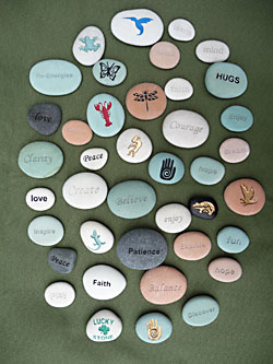 Natural Stones Engraved, Personalized Stones